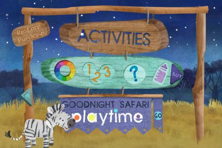 Goodnight Safari- get more fun activities games