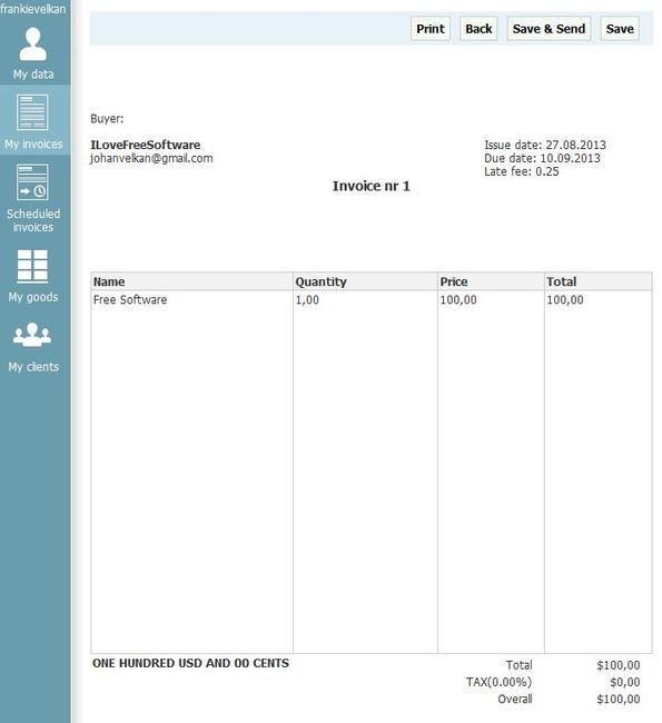 Inv24 invoice preview