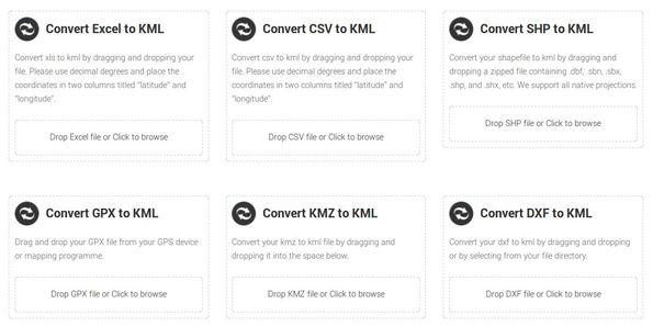 MapsData converter KML individual