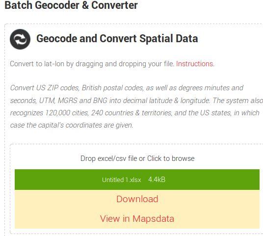 MapsData gecoder conversion