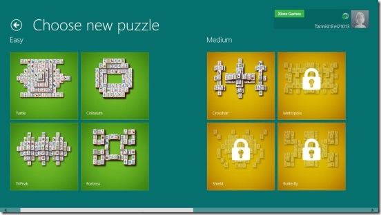 Microsoft Mahjong- choosing game puzzle