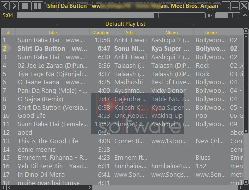 Moo0 Audio Player- interface 00 listen to mp3 songs