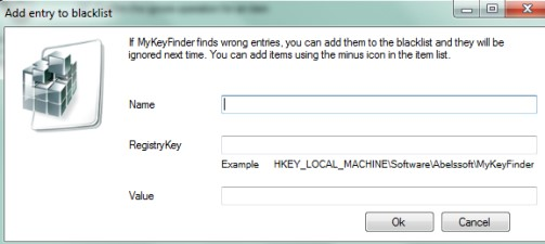 MyKeyFinder- add an item to blacklist