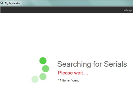 MyKeyFinder- searching serials