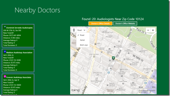 Nearby Doctors - search results