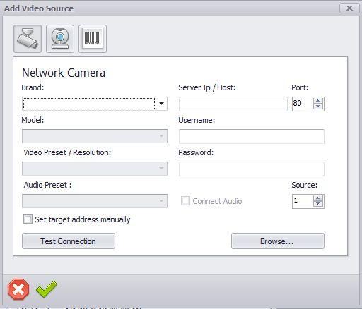 Netcam Studio adding web cam