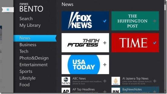 News Bento-customizing home screen