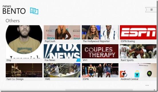 News Bento-home screen