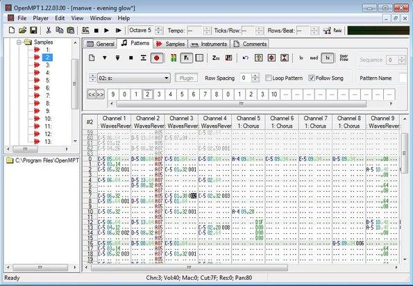 OpenMPT default window