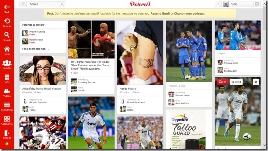 Pinterest One - Home Page