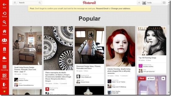 Pinterest One - Popular Page