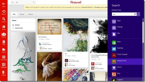 Pinterest One - Search