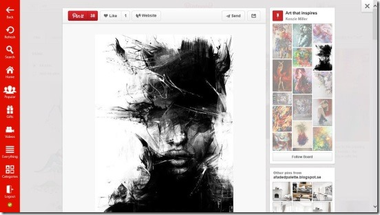 Pinterest One - Viewing Pin