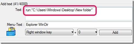 QuickTextPaste- open an item with hotkey