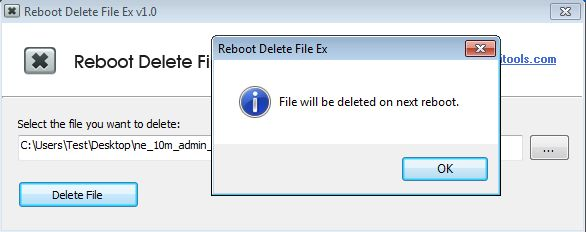 Reboot Delete File Ex set file