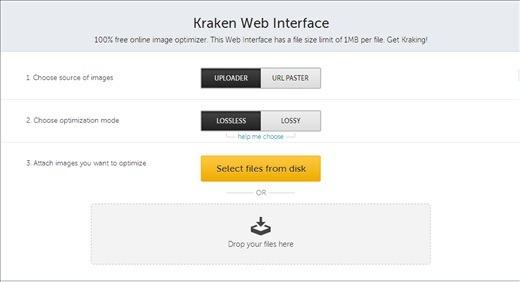 Kraken web interface