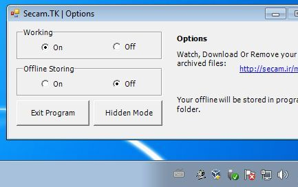Secam tk desktop client working