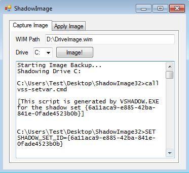 Shadow Image backup creation