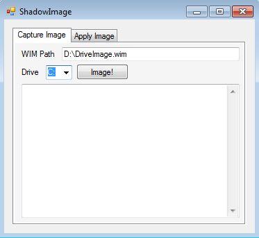 Shadow Image default window