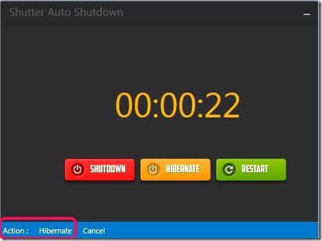 Shutter Auto Shutdown- hibernate action