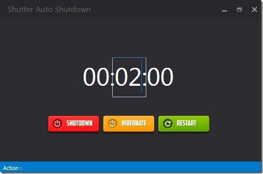Shutter Auto Shutdown- interface