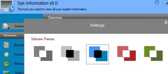 Sys Information- themes