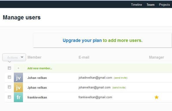 TeamWeek adding users