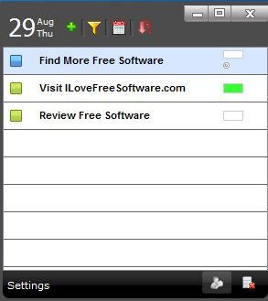 To Do List default window