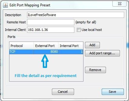 UPnP PortMapper Preset