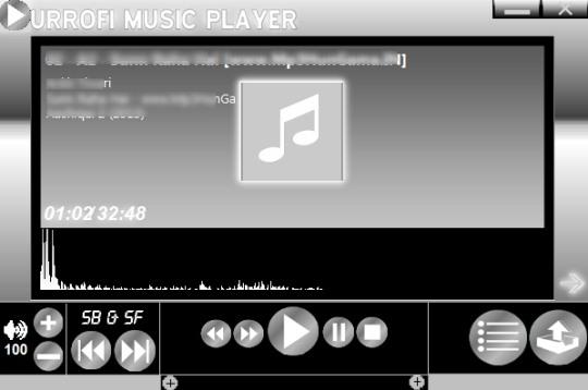 Urrofi Music Player- interface