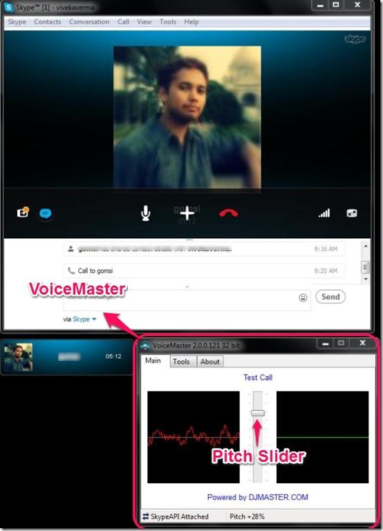 VoiceMaster main interface