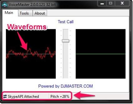 VoiceMaster waveforms