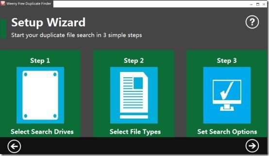 Weeny Free Duplicate Finder- main interface