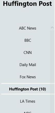 World News! Lite - categories