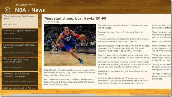 Yahoo! Sports - game recap