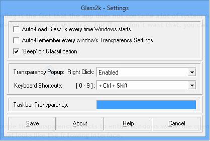 glass 2k settings