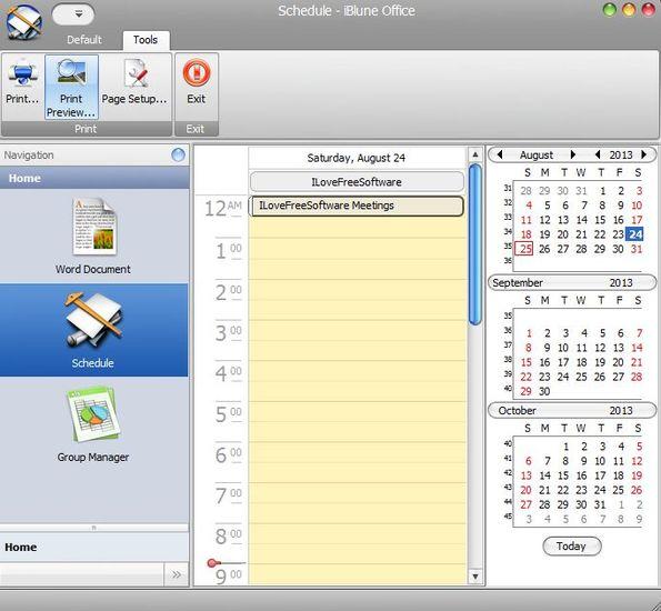 iBlune scheduler