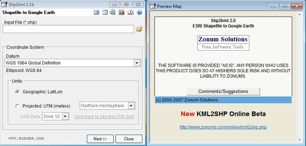 shp2kml: Free Google Earth SHP To KML Converter