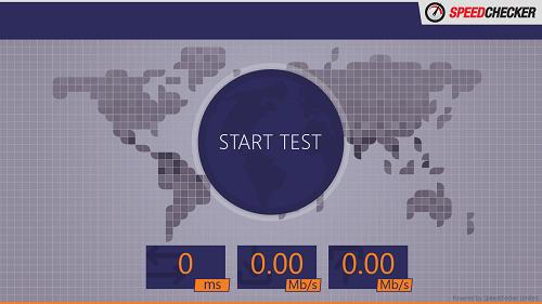speed checker main interface