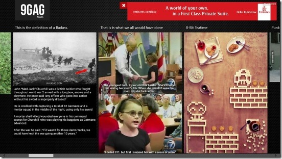 9GAG News - main screen