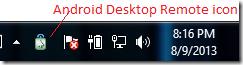 ADR system tray icon