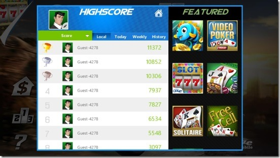 AE 3D Moto – The Lost City (leaderboard)