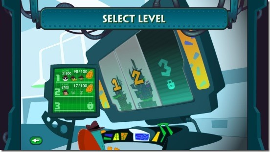 Agent P Strikes Back - choosing level