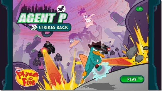 Agent P Strikes Back - main screen