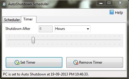 AutoShutdown Scheduler - The Free Shutdown Scheduler - Setting Timer