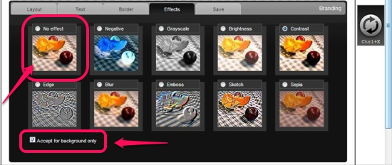 BannerFresh Effects interface
