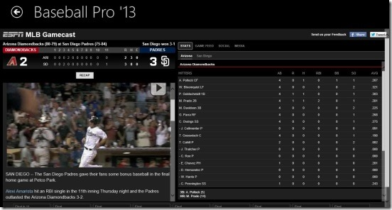 Baseball Pro  game details