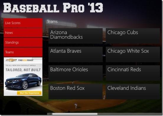 Baseball Pro  teams