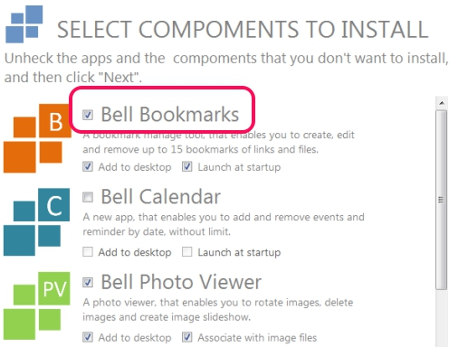 Bell Bookmarks- installation process