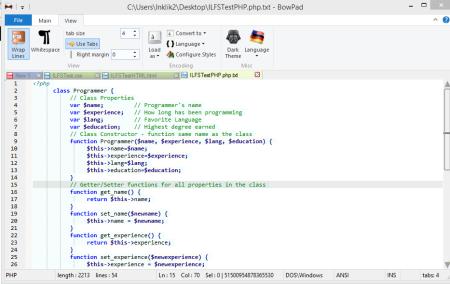 BowPad-Text editor-syntax highlighter